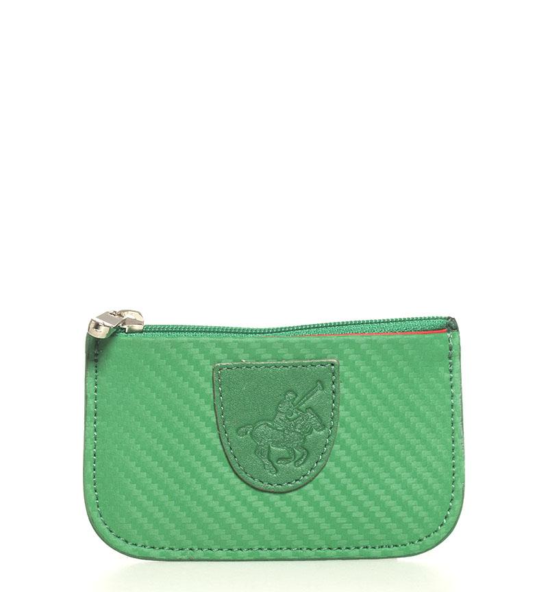 Comprar Marsan Piel Bolsa de couro 5005 Marbella verde -7x0.3x11cm-