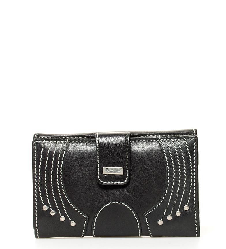 Comprar Marsan Piel Santorini porte-monnaie en cuir noir -18x9x3cm-