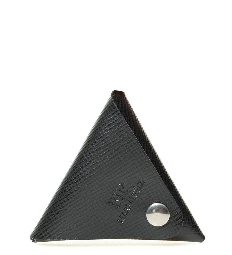 Comprar Marsan Piel -10x10cm- bourse en cuir noir vetusta