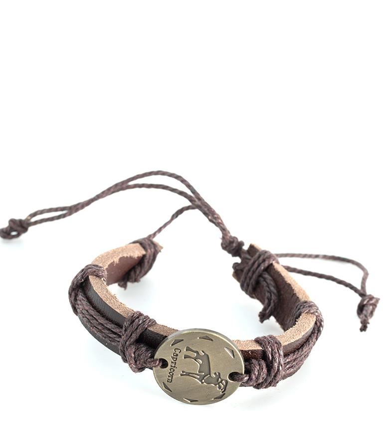 Comprar Marsan Piel Leather bracelet Capricorn brown