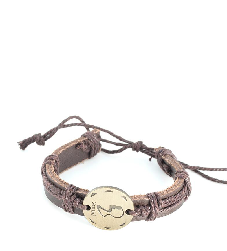 Comprar Marsan Piel Bracelet en Cuir Gémeaux Marron