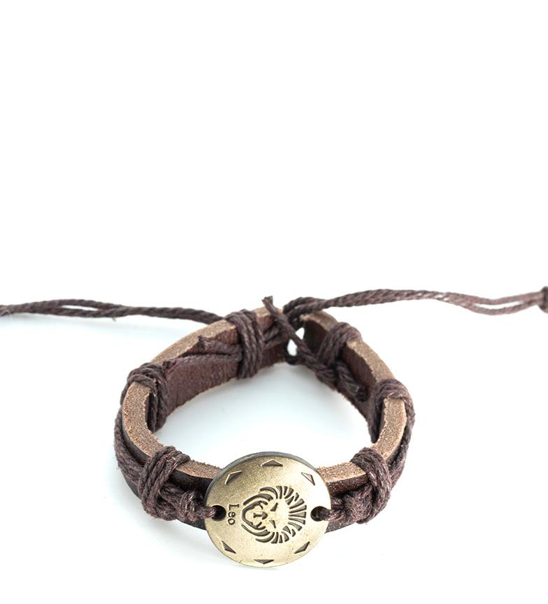 Comprar Marsan Piel Brown Leo leather bracelet