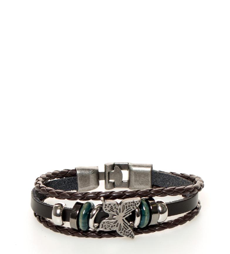 Comprar Marsan Piel Brown Butterfly Leather Bracelet