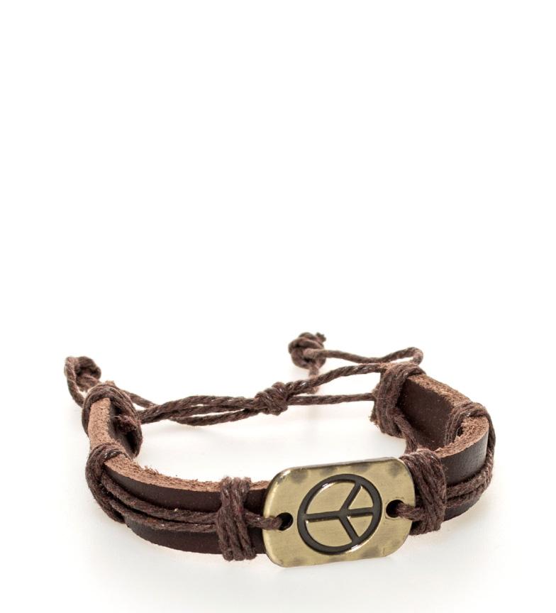 Comprar Marsan Piel Paz pulseira de couro marrom