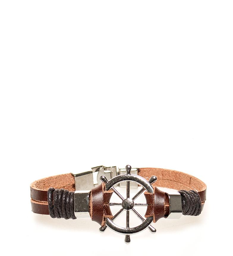 Comprar Marsan Piel Leather bracelet Brown rudder