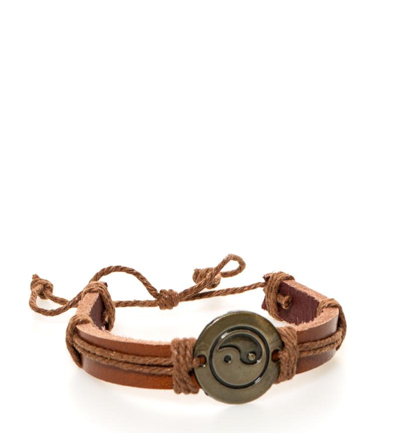 Comprar Marsan Piel Yin Yang couro pulseira de couro