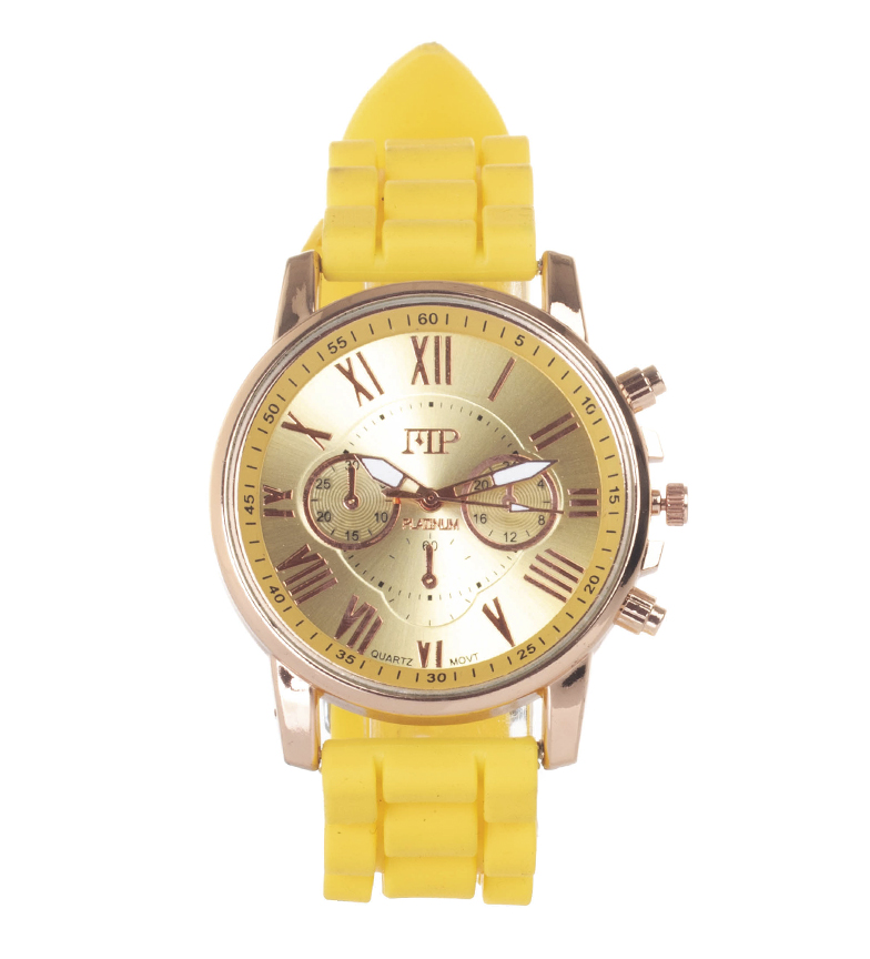 Comprar Marsan Piel Analogue clock 9921 yellow