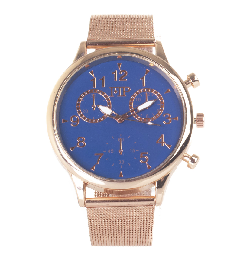 Comprar Marsan Piel Analog clock 9966 copper, blue