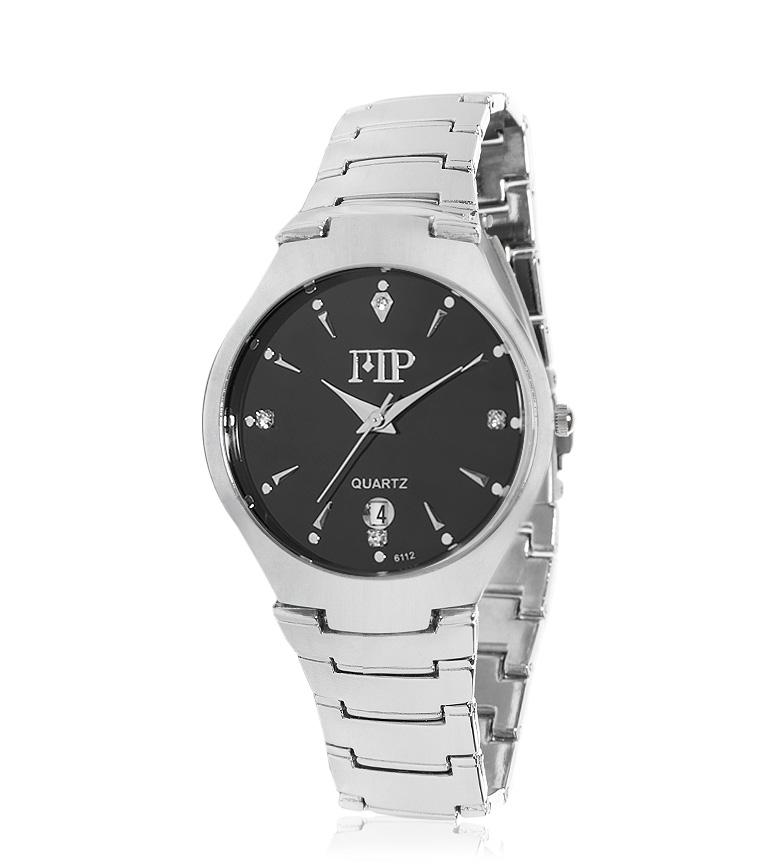 Comprar Marsan Piel Amire análogo relógio preto, prata