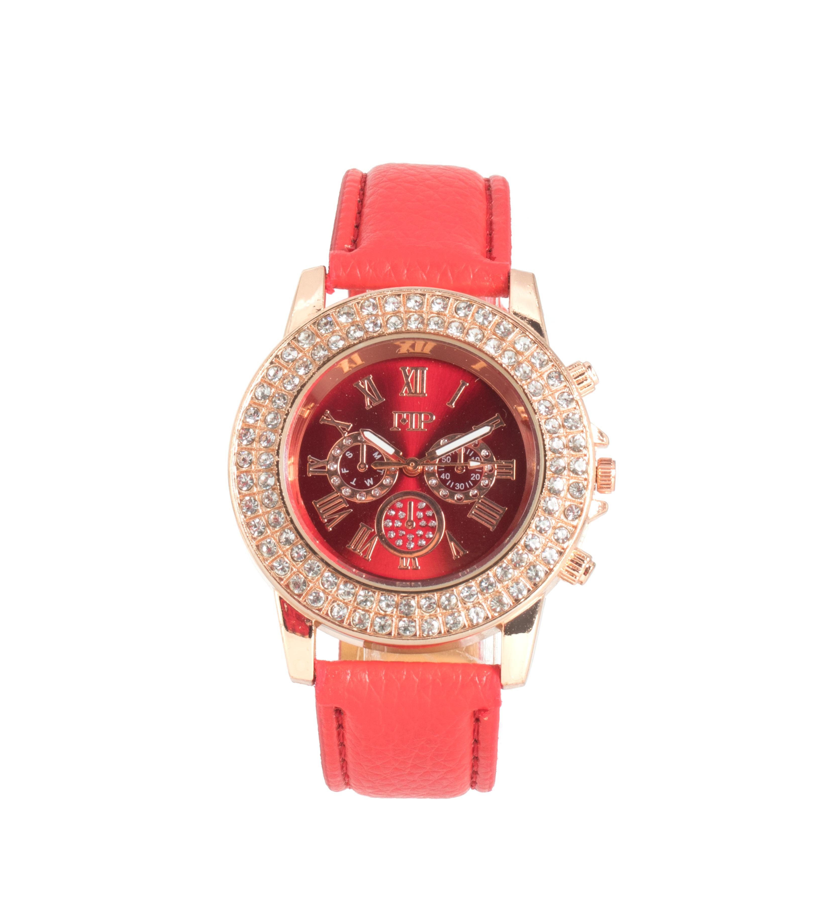 Comprar Marsan Piel Analogue clock Asia red
