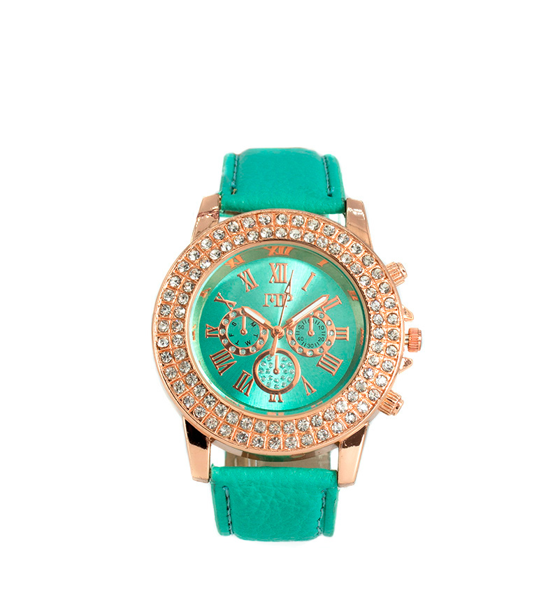 Comprar Marsan Piel Analog clock Asia green