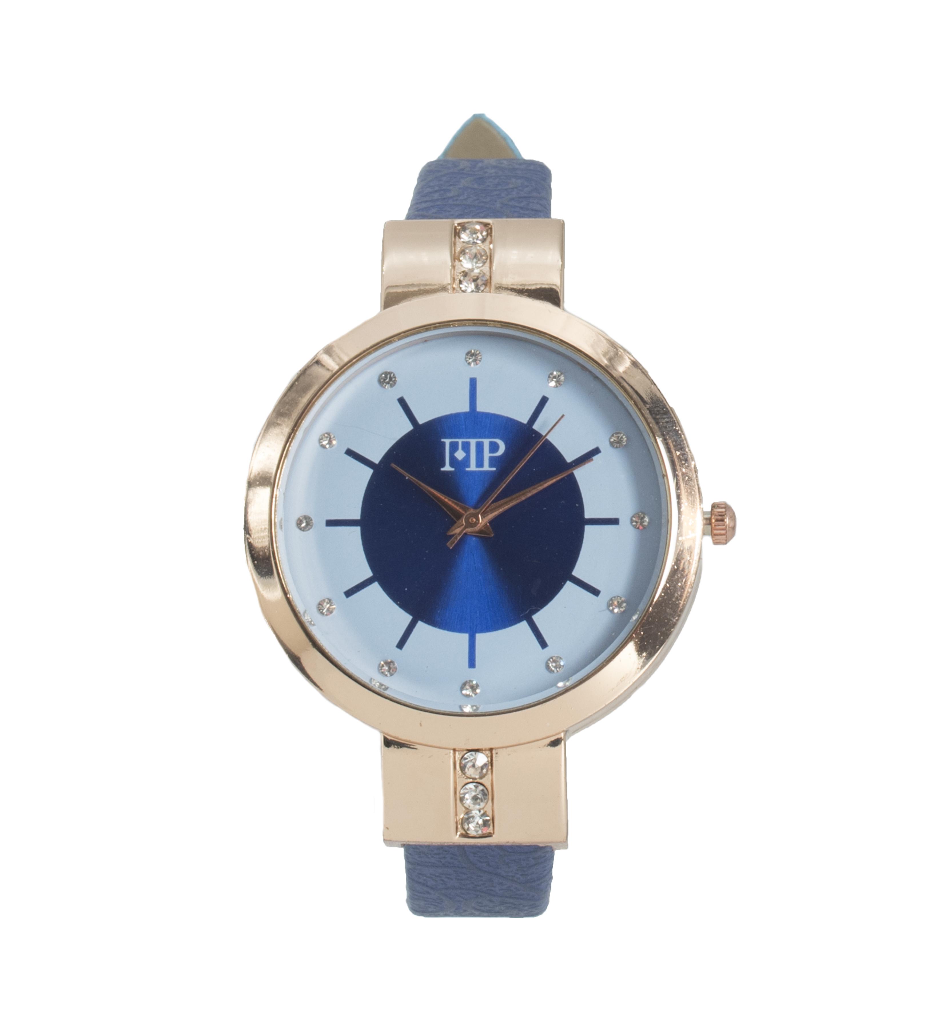 Comprar Marsan Piel Horloge analogique Breid bleu