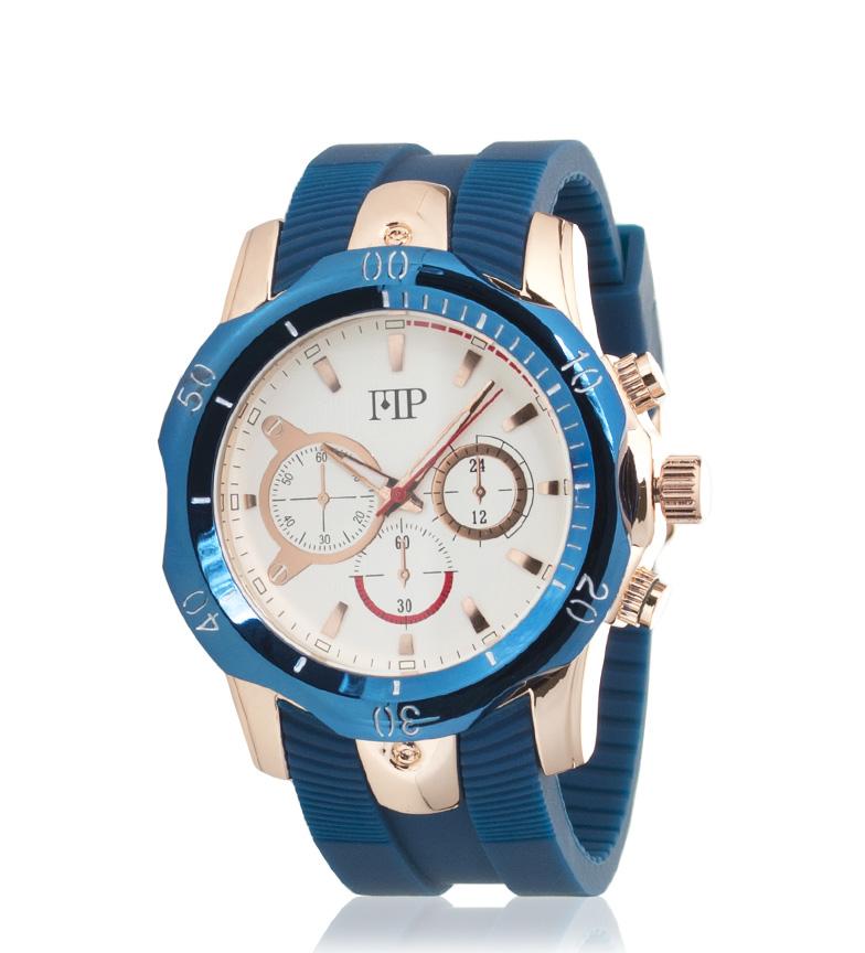 Comprar Marsan Piel Chrono Blue Analog Clock