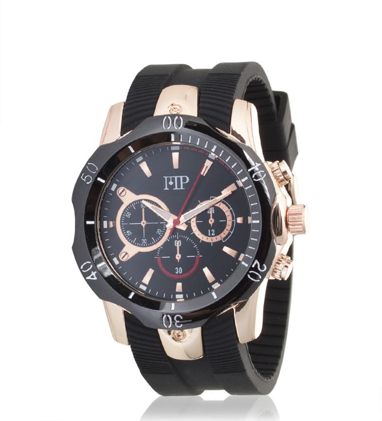 Comprar Marsan Piel Analog Chrono Black Watch