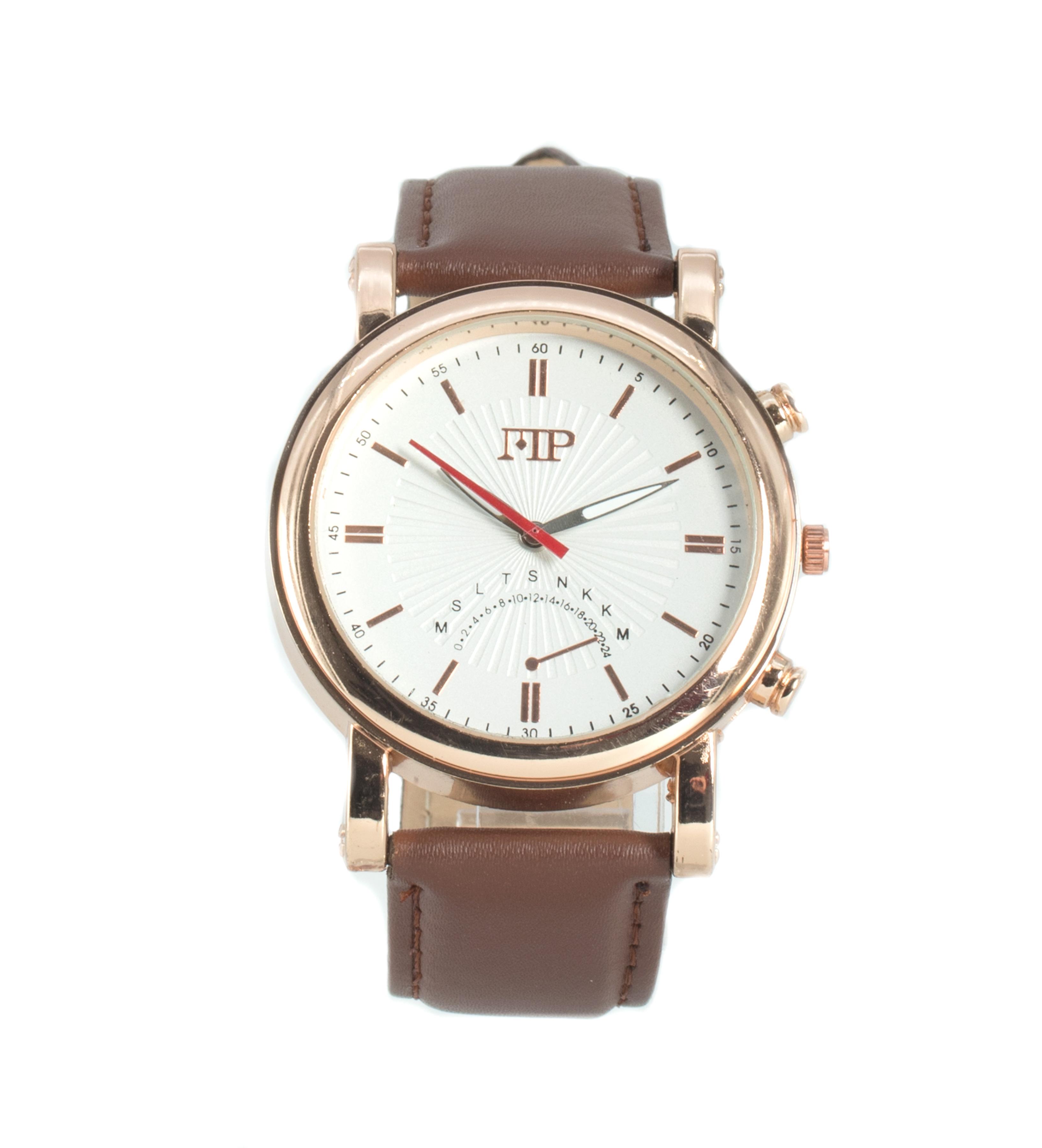 Comprar Marsan Piel Horloge analogique Flitwick, marron, blanc