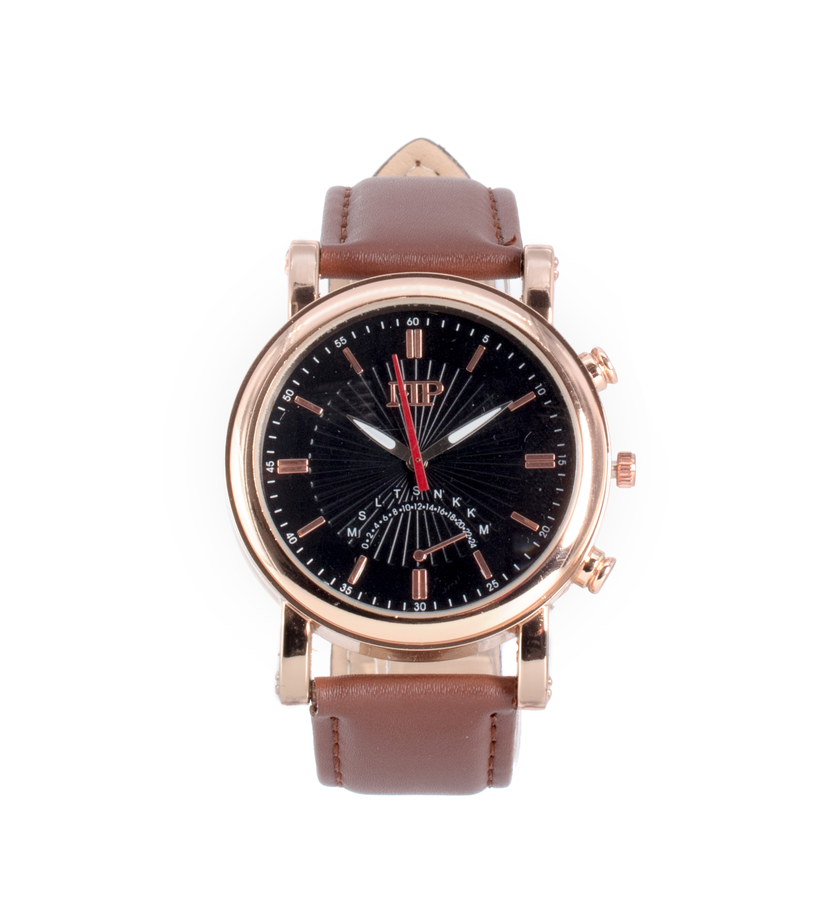 Comprar Marsan Piel Relógio analógico Flitwick castanho, preto