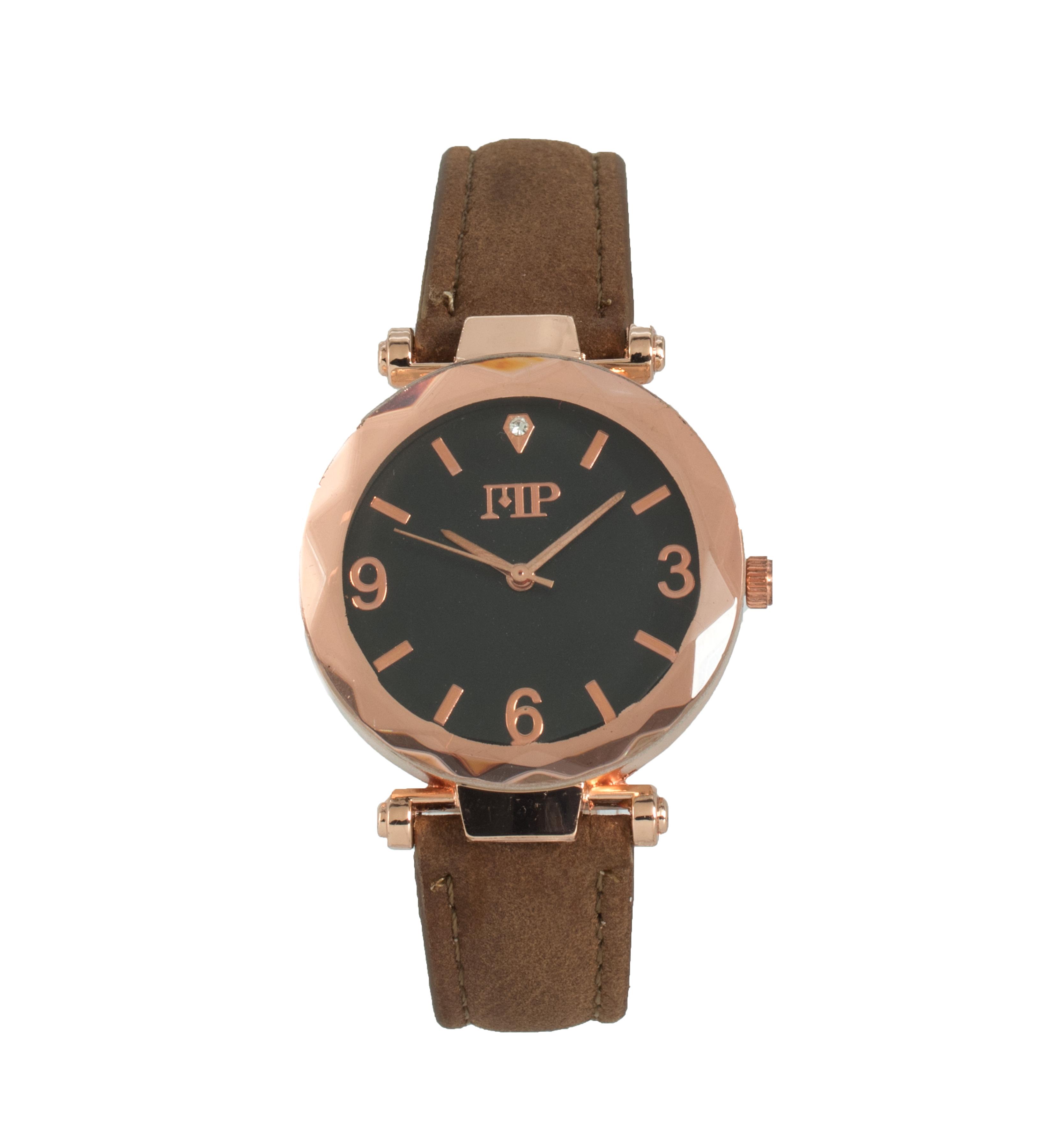 Comprar Marsan Piel Goldstein taupe analog clock