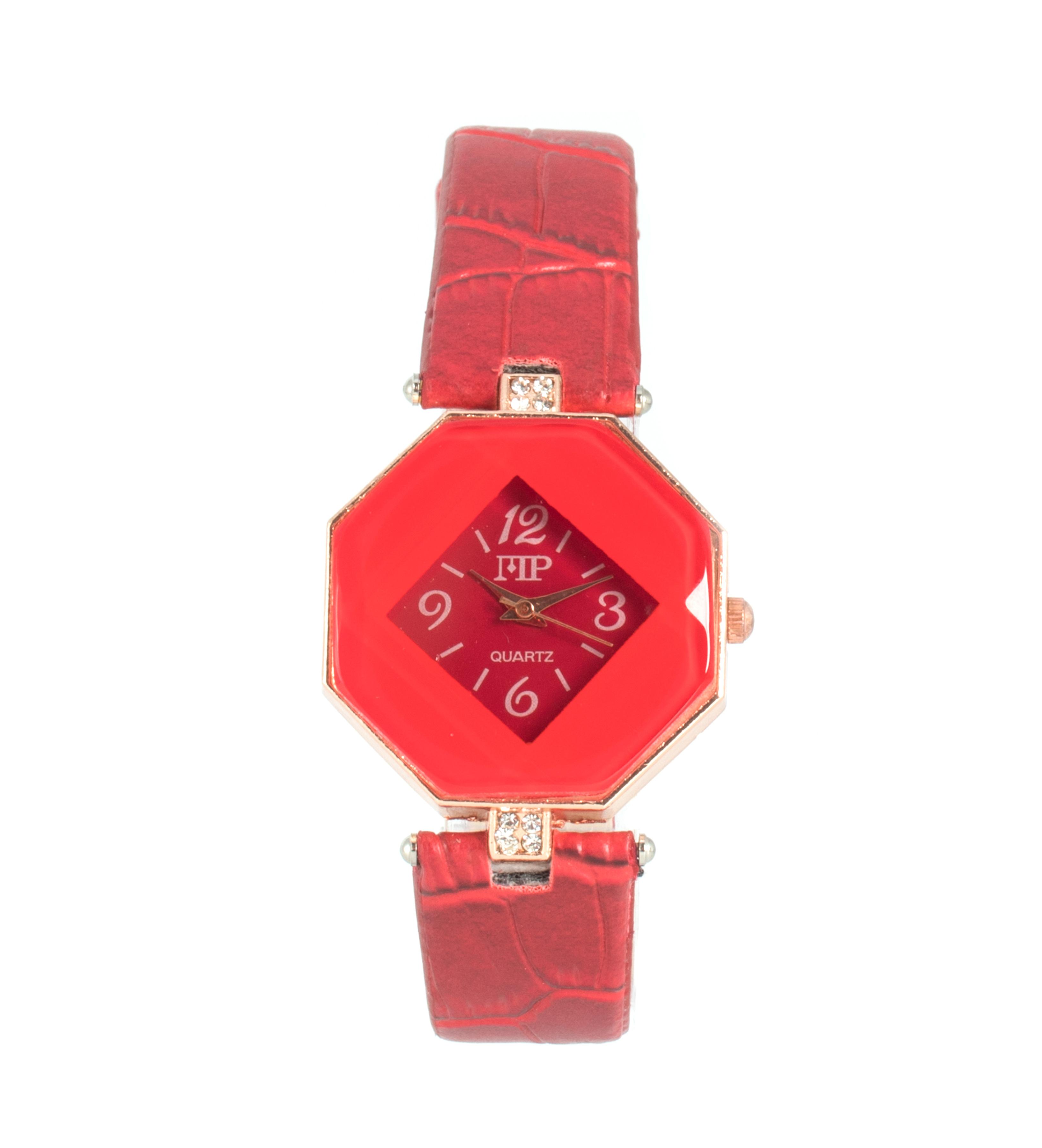 Comprar Marsan Piel Analogue clock Icky red