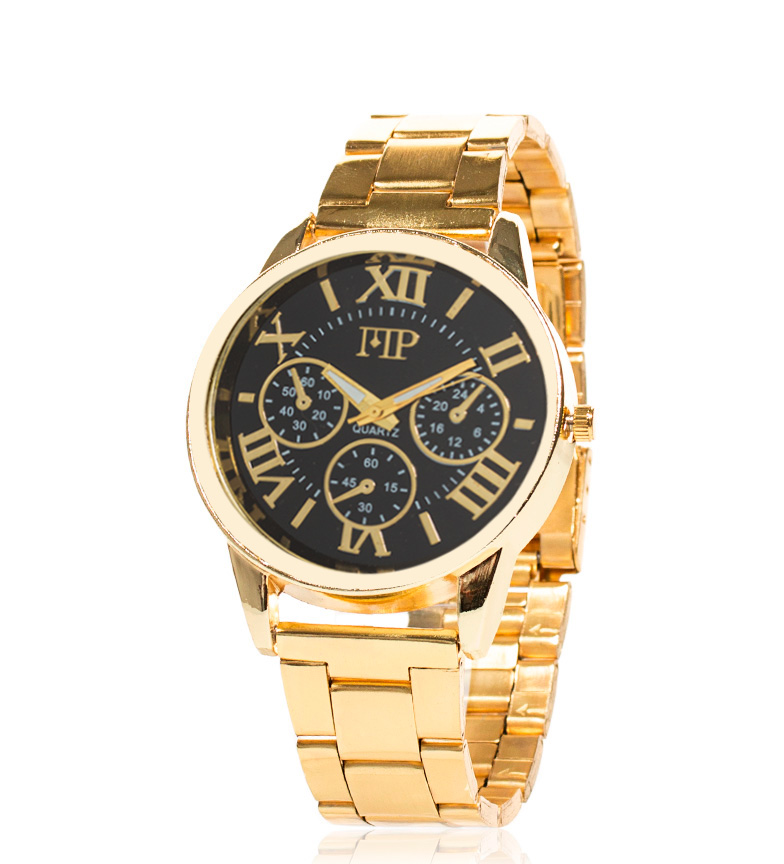 Comprar Marsan Piel Reloj analógico Jima negro, dorado