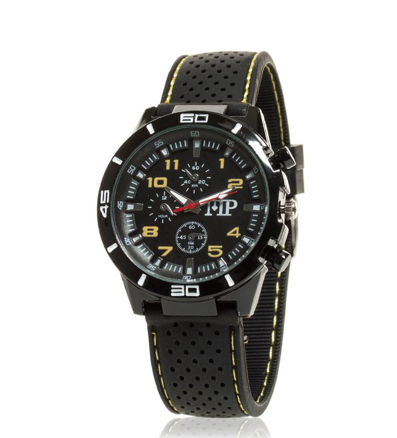 Comprar Marsan Piel Reloj analógico Quick negro, amarillo