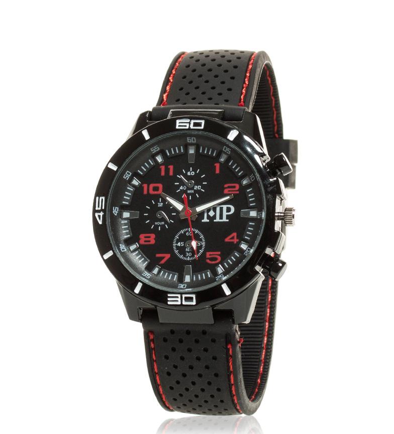 Comprar Marsan Piel Relógio analógico preto, Quick vermelho
