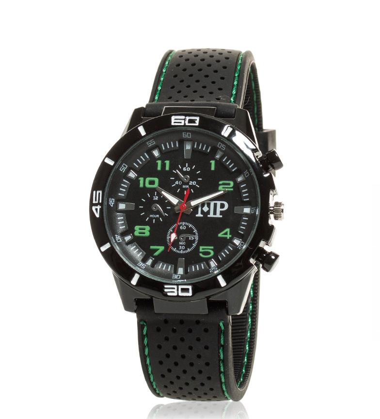 Comprar Marsan Piel Orologio analogico nero, verde rapida