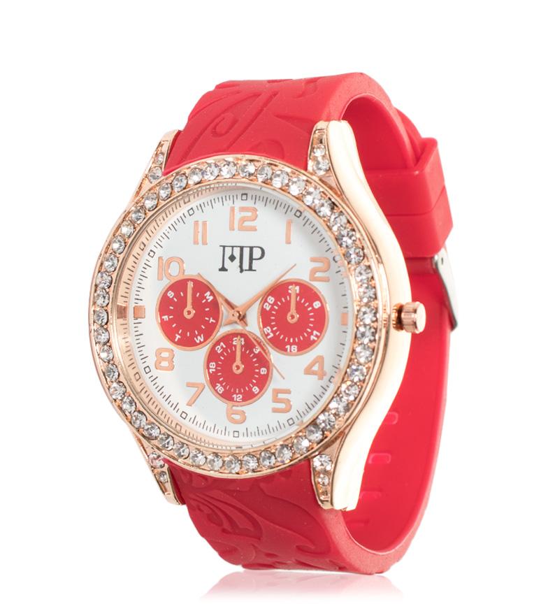 Comprar Marsan Piel Reloj analógico Rim rojo