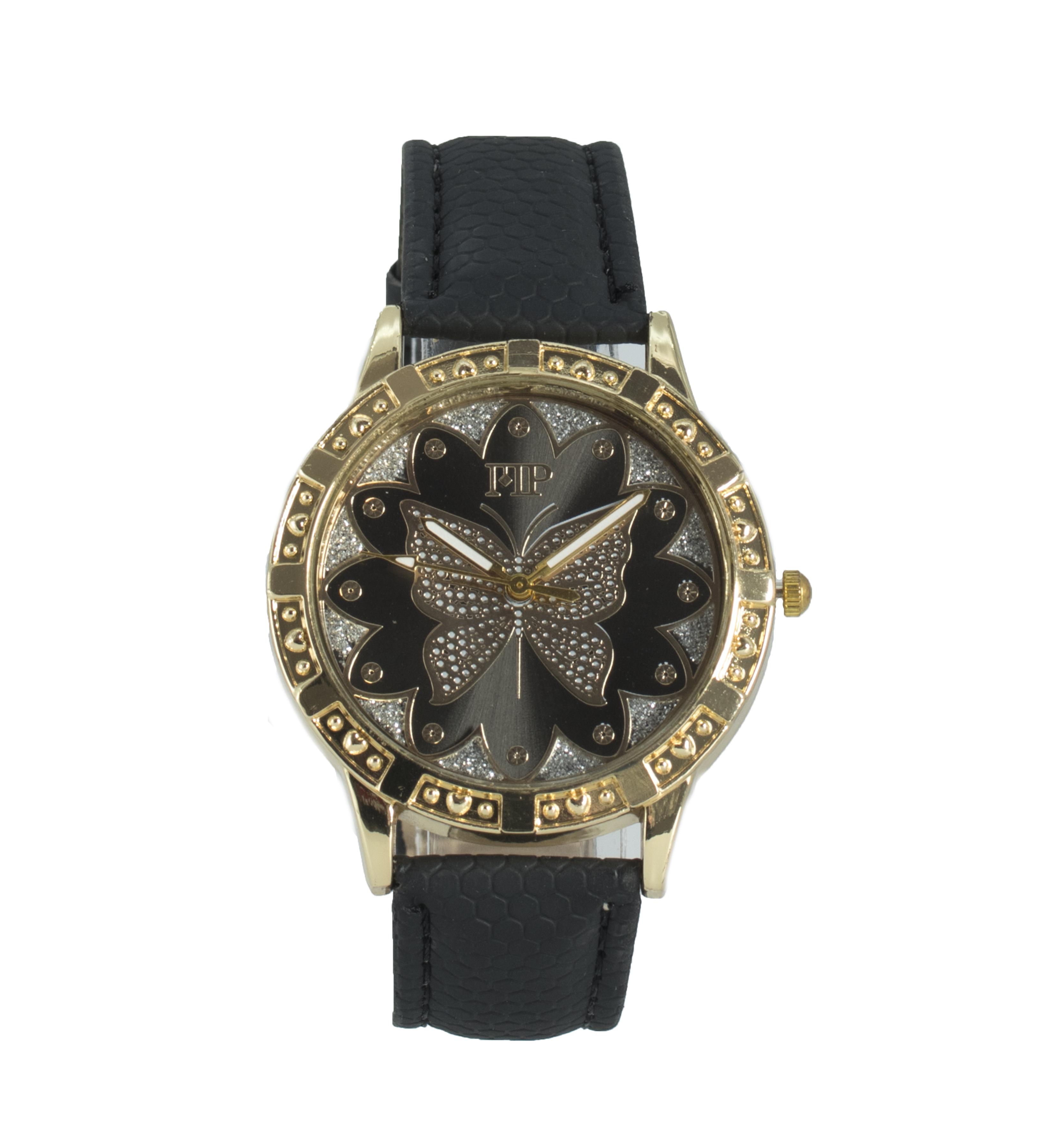 Comprar Marsan Piel Relógio preto analógico Siza