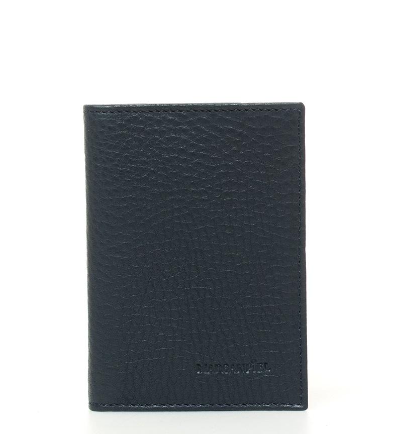Comprar Marsan Piel Porte-cartes en cuir bleu Kasabian -8x11cm-