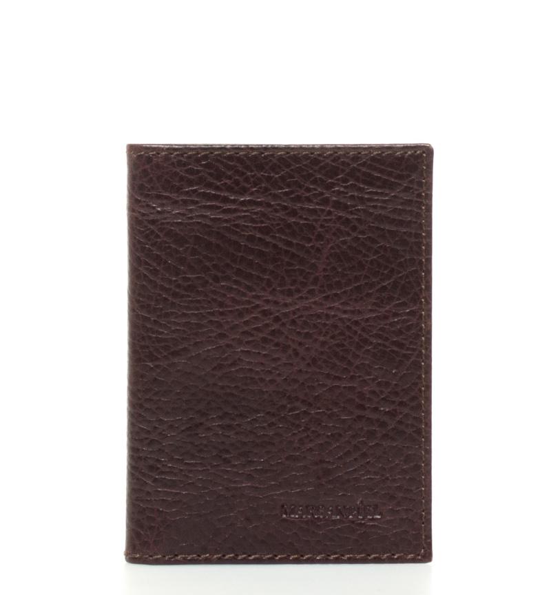 Comprar Marsan Piel Kasabian -8x11cm- titular do cartão de couro marrom