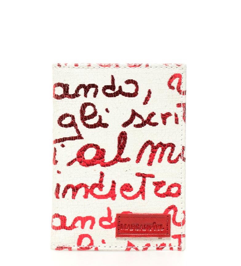 Comprar Marsan Piel Tarjetero de piel Kasabian rojo -8x11cm-