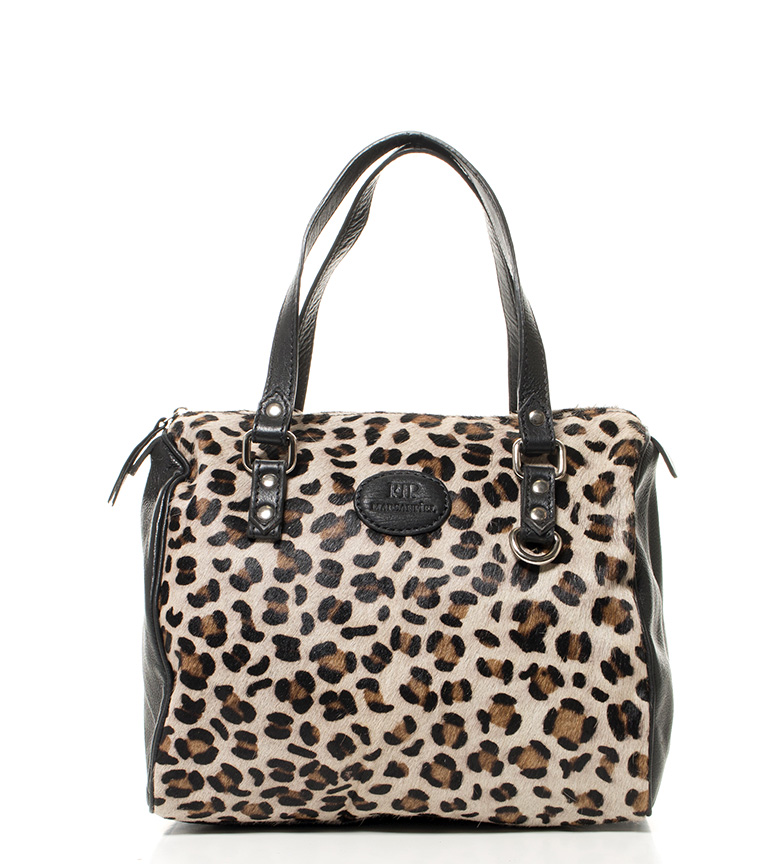 Comprar Marsan Piel Leather bag Leopard black -30x23x18cm-