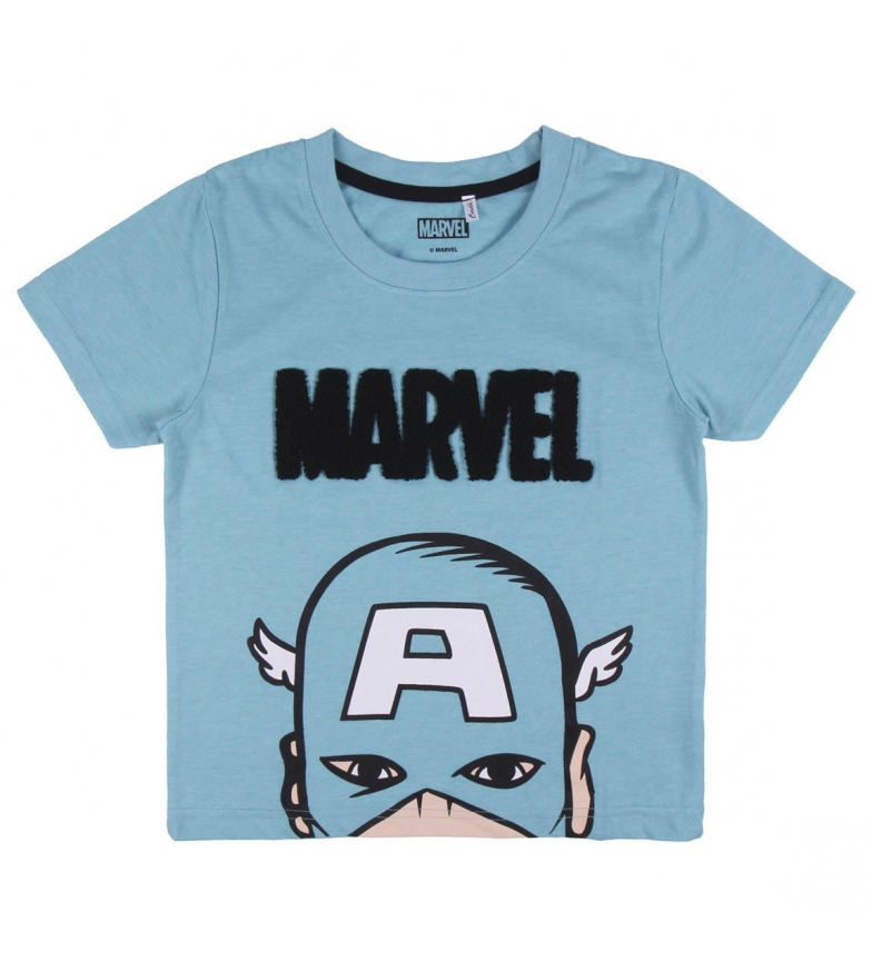 Cerdá Group T-shirt blu a maniche corte in jersey singolo Marvel