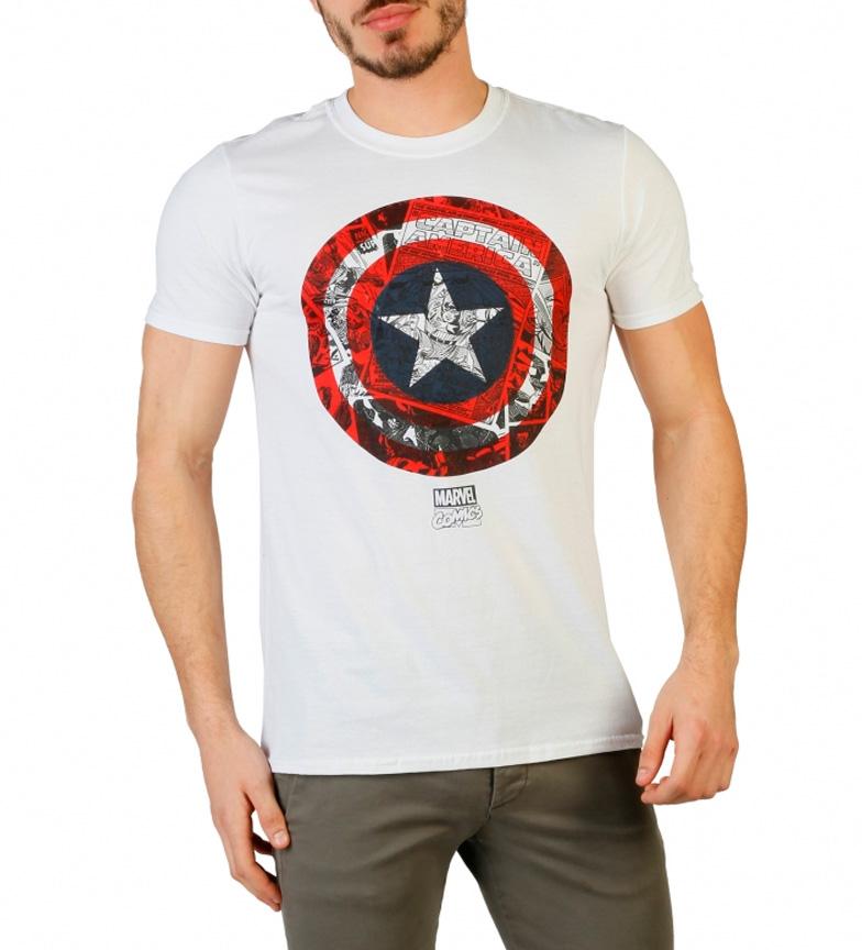 Marvel Camiseta Capit�n Am�rica blanco