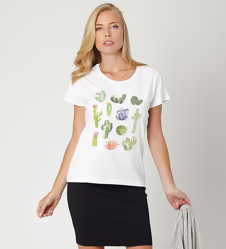 Maryland Camiseta Cactus blanco