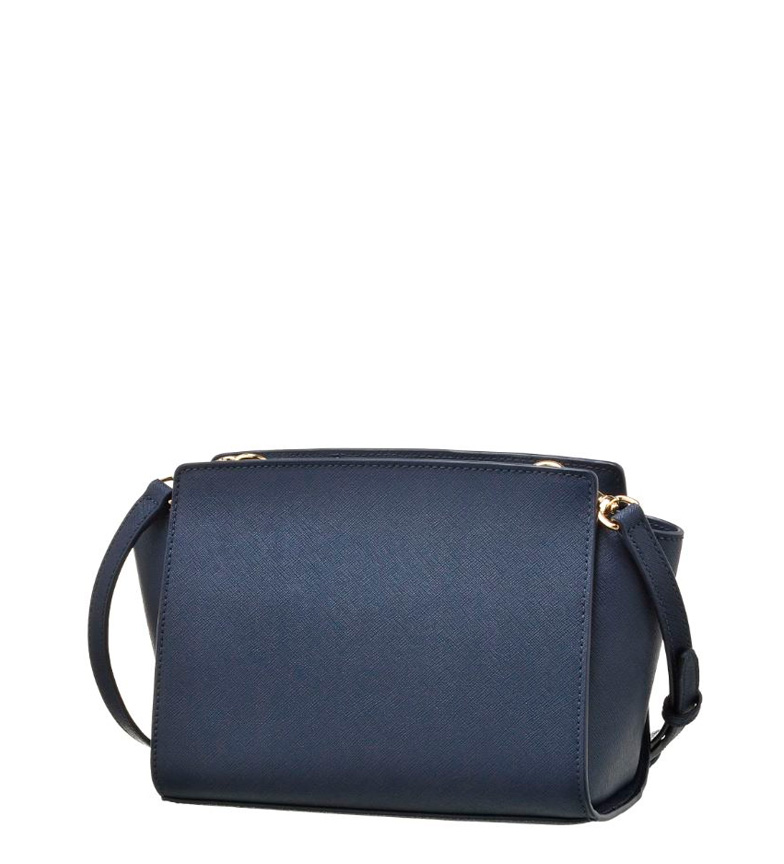 Michael-Kors-Borsa-in-pelle-Selma-Donna-Blu-Marrone