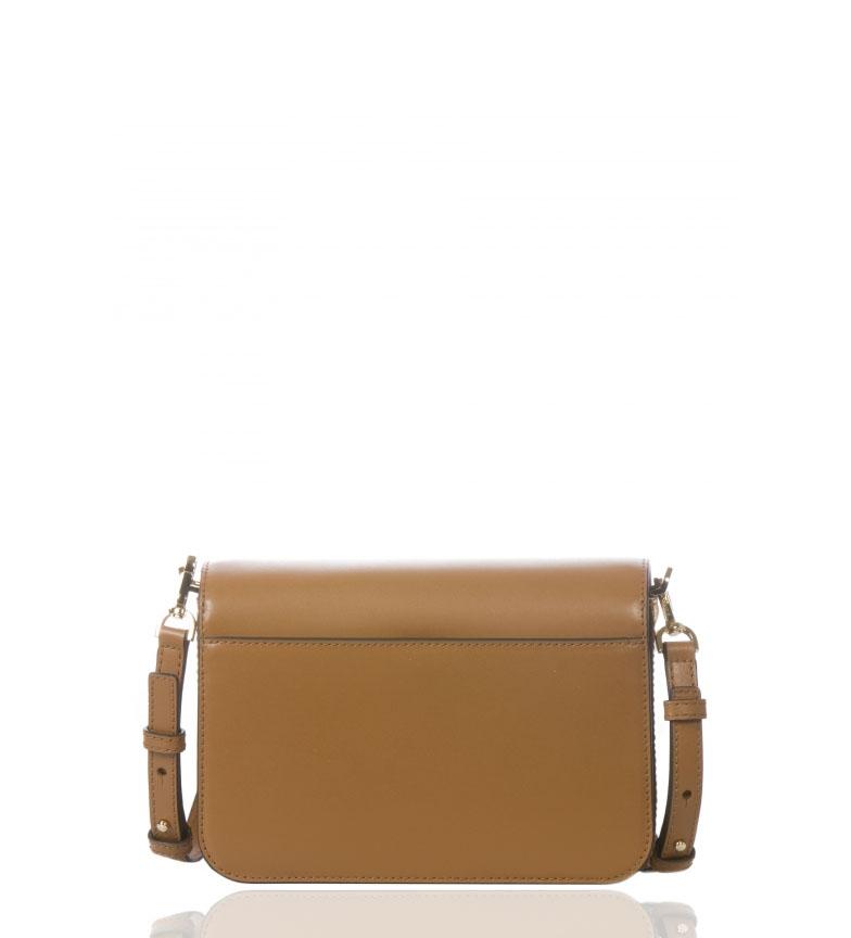 Michael-Kors-Sac-en-cuir-Sloannegro-22-9x16-5x6-4cm-Femme-Noir-Marron-Casuel miniature 6