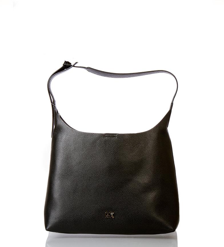Comprar Michael Kors Junie leather bag black -35.4x12.7x34.5cm-