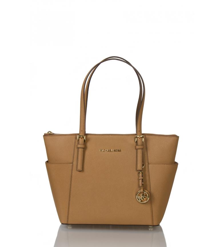 Comprar Michael Kors Jet tote leather bag Set brown -38,1x25,4x11,4cm-
