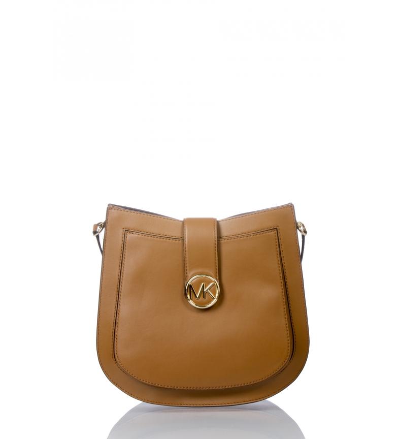 Comprar Michael Kors Bolsa de couro Lillie marrom -35x28x12cm-