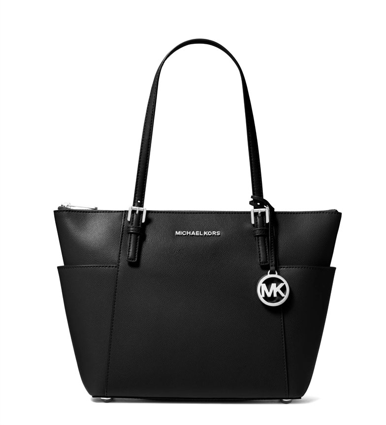 Comprar Michael Kors Jet tote leather bag Set Item black -39x25x12cm