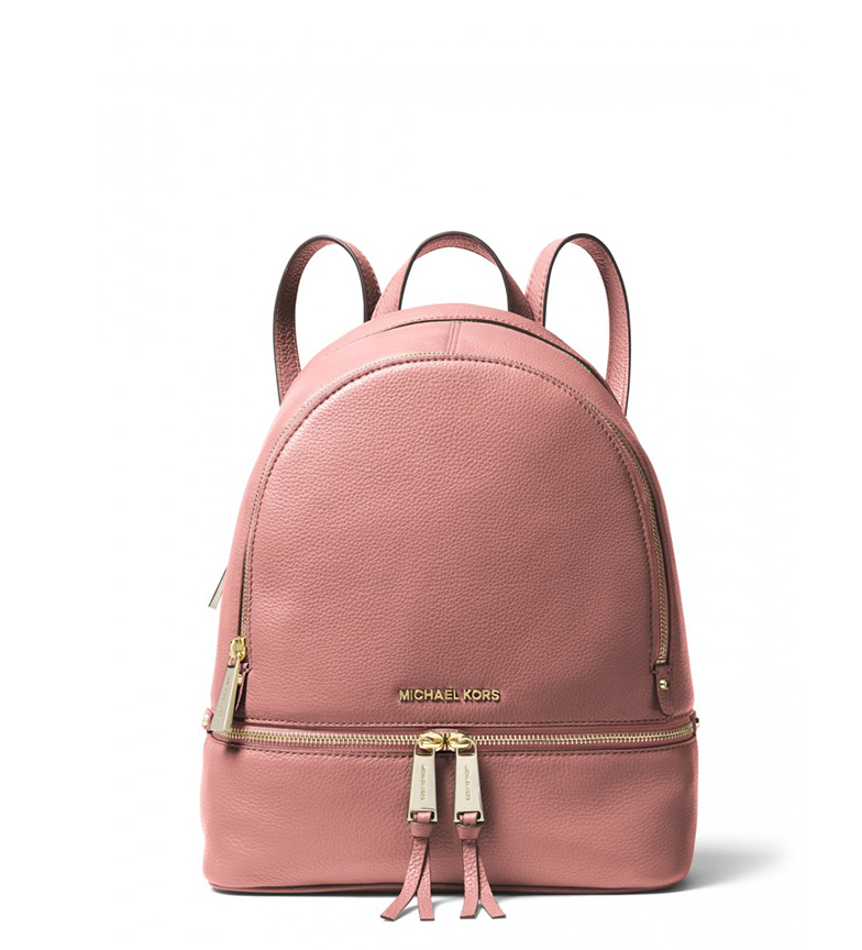 Comprar Michael Kors Rhea leather rucksack pink -30x12x26cm