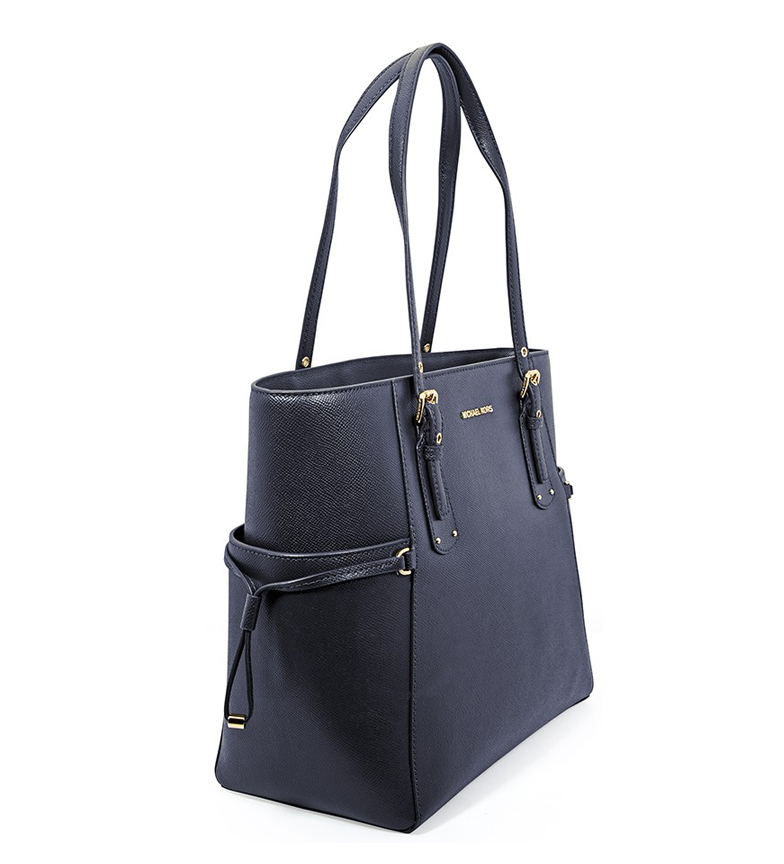 Michael-Kors-Borsa-in-pelle-marina-Tote-Voyager-37-5x27-9x15-9x15-9cm-Donna miniatura 11