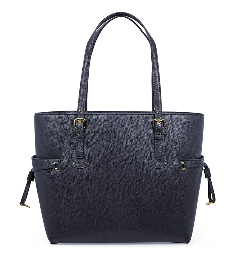 Michael-Kors-Borsa-in-pelle-marina-Tote-Voyager-37-5x27-9x15-9x15-9cm-Donna miniatura 12
