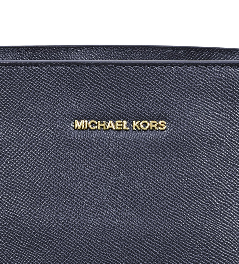 Michael-Kors-Borsa-in-pelle-marina-Tote-Voyager-37-5x27-9x15-9x15-9cm-Donna miniatura 15