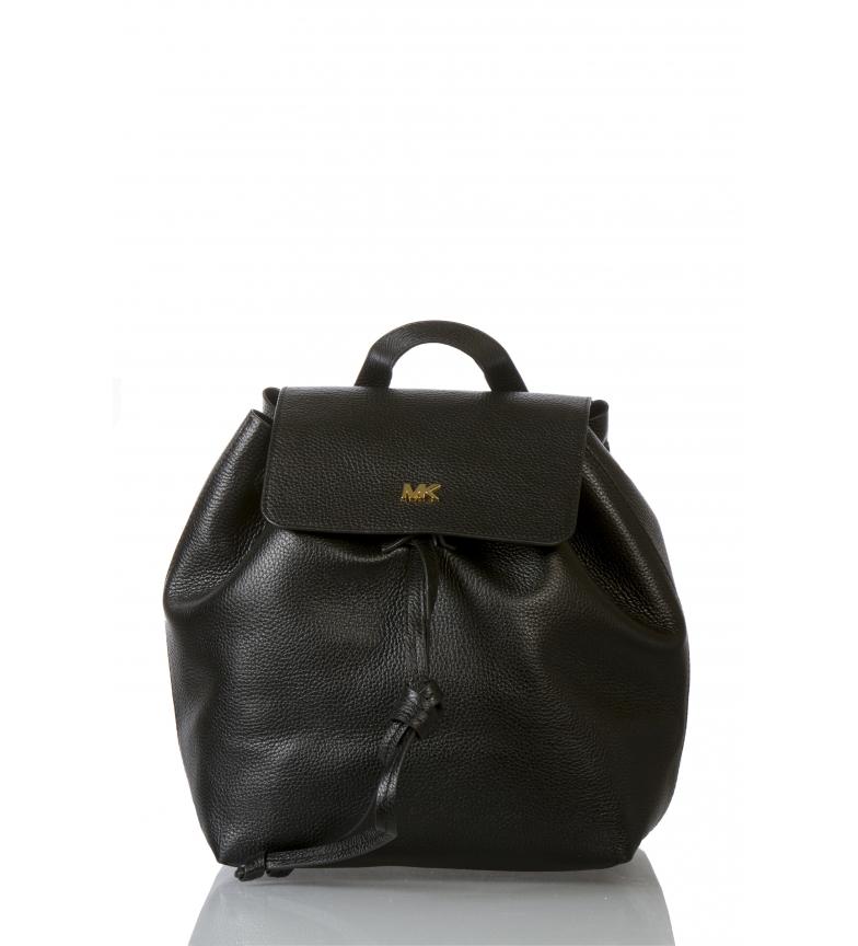 Comprar Michael Kors Sac à dos en cuir Junie noir -29.8x15.2x31.8cm-