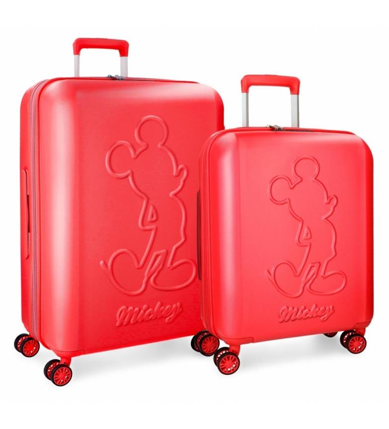 Comprar Mickey Conjunto de malas Mickey Premium rígidas 55-68cm vermelho
