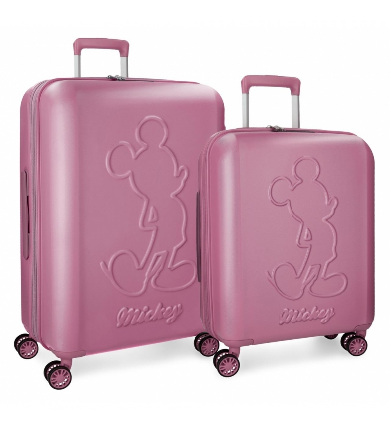 Comprar Mickey Set of rigid Mickey Premium suitcases 55-68cm pink