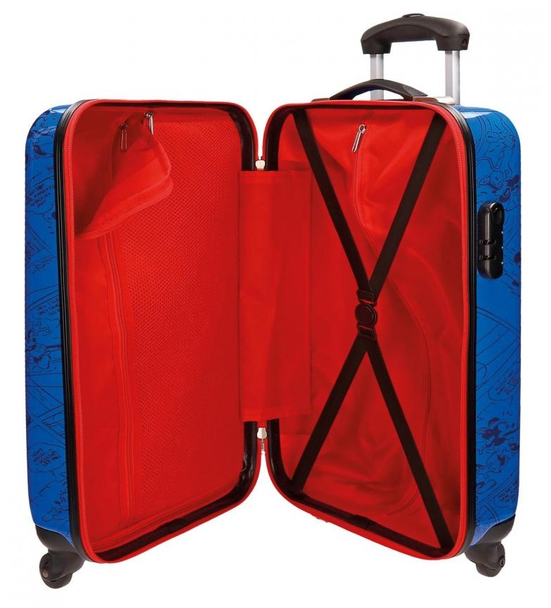 Comprar mickey maleta de cabina r gida hello mickey azul for Cabina del mickey