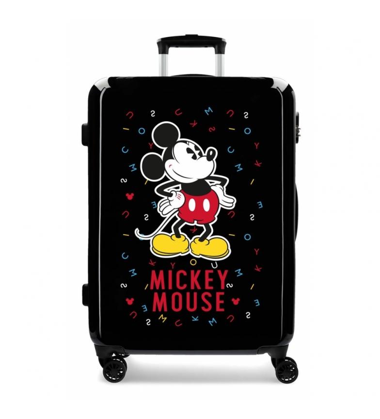 Comprar Mickey Valise Mickey moyenne rigide lettres 68cm noir 70L / -48x68x26cm valise rigide